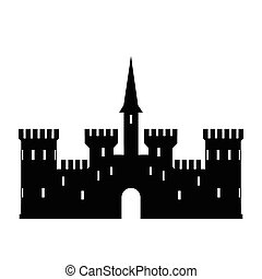 Abstract castle vector logo templat