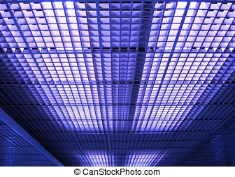 Abstract Ceiling Pattern - -- like a large office or...