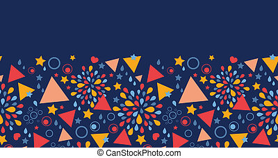 Abstract celebration horizontal seamless pattern background
