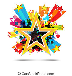 abstract celebration star background design