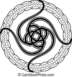 Abstract celtic print or tattoo design