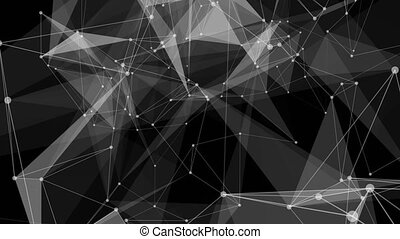 Abstract cg polygonal surface. Geometric poly triangles...