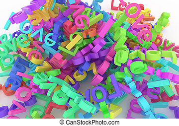 Abstract CGI typography, bunch of word represent love. Wallpaper for graphic design. Artwork, style, digital & creativity.