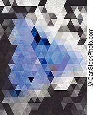 Abstract chacoal gray triangles background