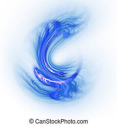 abstract chaos blur dance paint on white background