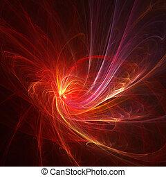 fire spiral rays