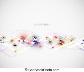 Vector illustration with abstract chaos composition