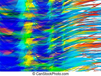 abstract chaotic rainbow colors