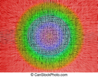 abstract chaotic rainbow grid background texture