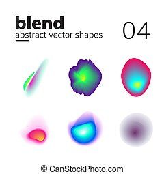Abstract chaotic shape form for your design