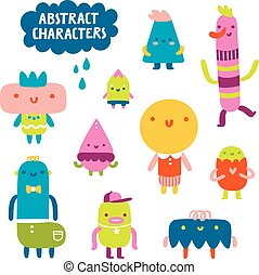 Abstract characters collection - Collection of 10 fun and...