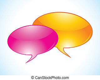 abstract chat icon vector
