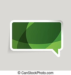 Abstract chat speech bubble vector