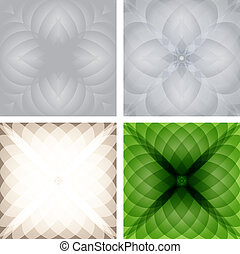 Abstract checkered background set. Vector eps10