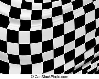 Abstract checkered flag