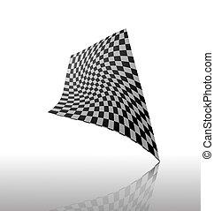 abstract Checkered flag vector