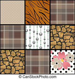 Abstract checkered plaid textile patchwork pattern background