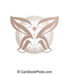 abstract chemical butterflies symbol a Beauty Butterfly logo design template Vector illustration