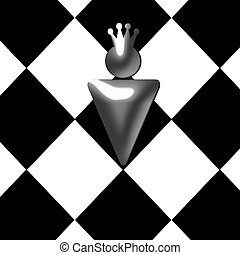 abstract chess king