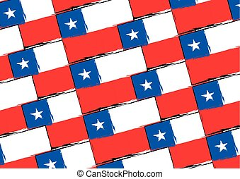 abstract CHILEAN flag or banner vector illustration