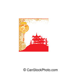 abstract Chinese landscape background