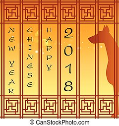 Abstract chinese new year 2018 background. Year of Dog....