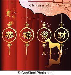 Abstract chinese new year 2018 with Traditional Chinese...