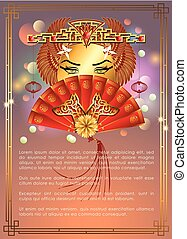 Abstract Chinese New Year with Chinese New Year Goddess, The...