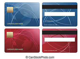 Abstract chip credit card