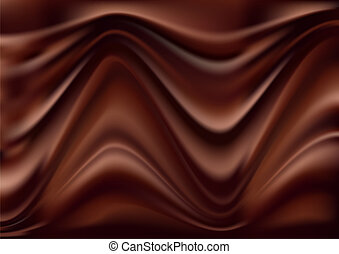 Abstract chocolate background, brown abstract satin, vector...