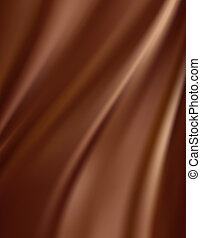Abstract Chocolate Background, Brown Silk Fabric for Drapery...