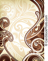Illustration of abstract chocolate background.