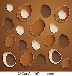 Abstract chocolate easter eggs