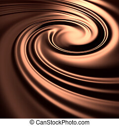 Abstract chocolate swirl background - 3d remarkable abstract...