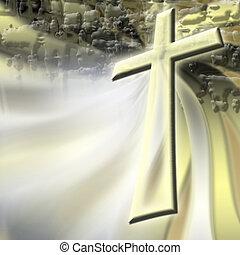 Abstract christian cross 4