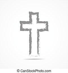 Abstract Christian cross icon. Vector illustration. -...