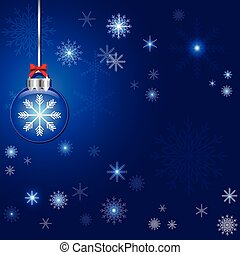 abstract christmas and ball decoration blue vector background