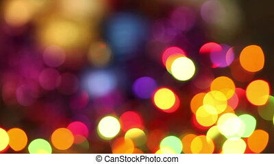 Abstract christmas background. flashing garland