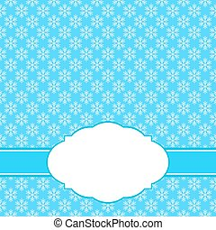 Abstract Christmas background greeting with snowflakes