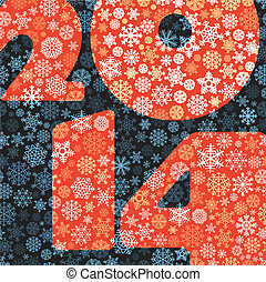 Abstract Christmas background. Happy New 2014