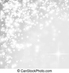 Abstract Christmas background of holiday lights - Abstract...