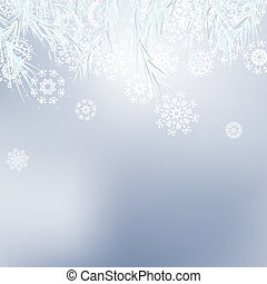 Abstract Christmas background snowflakes. + EPS8