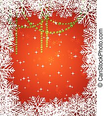 Abstract christmas background - Red Christmas background...