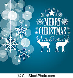 Abstract Christmas Background Vector Illustration