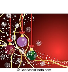 christmas background - Abstract christmas background Vector...