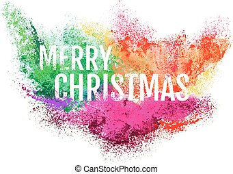Abstract Christmas background, vector