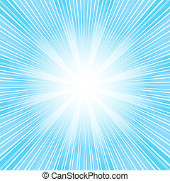 Abstract  christmas background with blue sunburst (vector)