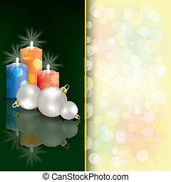 Christmas background with candles