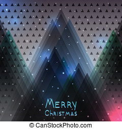 Abstract Christmas background with