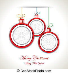 Abstract Christmas background with christmas toys